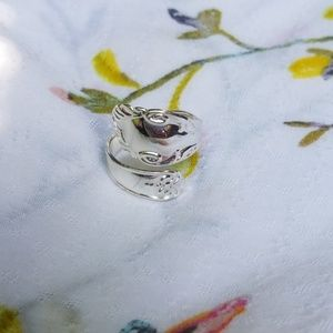 Spoon ring  silver finish adjustable